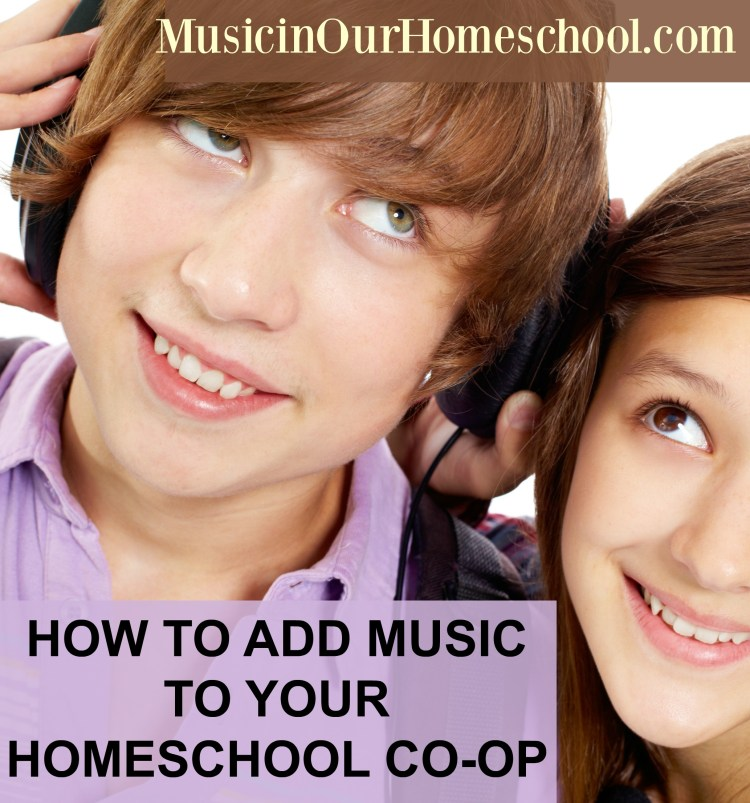 How to Add Music to a Homeschool Co-op. Use these ideas for including music in your homeschool co-op. Don't neglect music education in your homeschool! #musicinourhomeschool #homeschoolcoop #musiceducation #musiclessonsforkids #homeschoolmusic