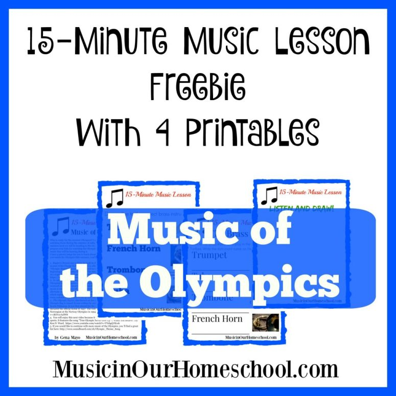 Music of the Olympics 15-Minute Music Lesson Freebie with Printables