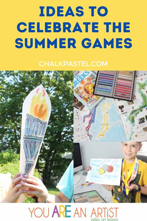 Learn about the Summer Games through this Chalk Pastel art lesson.