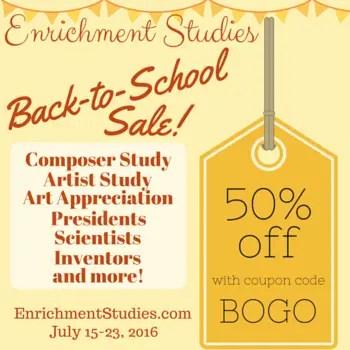 Enrichment Studies Back to School Sale