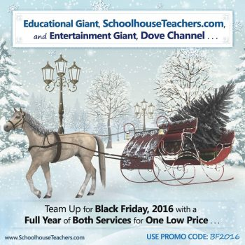 SchoolhouseTeachers.com courses and Dove Channel promotion