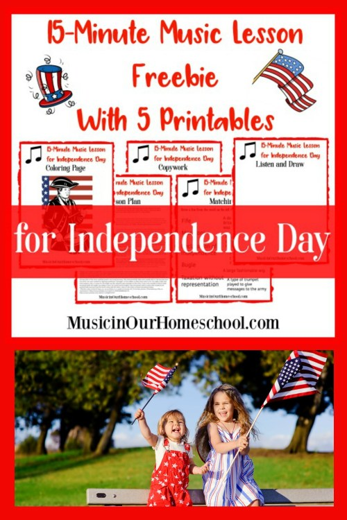 15-Minute Music Lesson for Independence Day with free 5-page printable pack