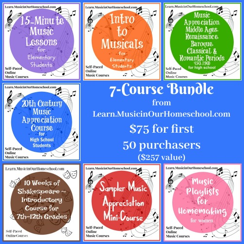 7-Course Bundle Sale from Learn.MusicinOurHomeschool.com