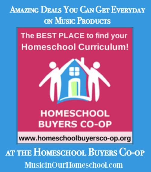 Amazing Deals You Can Get Everyday on Music Products at the Homeschool Buyers Co-op from MusicinOurHomeschool.com