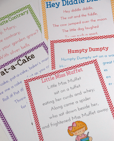 Teaching with Nursery Rhymes, with videos of the songs, Music in Our Homeschool