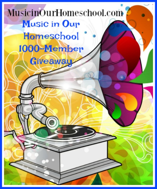 Music in Our Homeschool 1000-Member Giveaway, lots of great music curriculum and product giveaways for homeschoolers