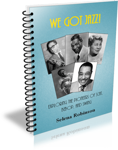 Review of We Got Jazz, curriculum guide for teaching kids about jazz. #musiclessonsforkids #jazzmusiclesson #elementarymusic #homeschoolmusic #musicinourhomeschool