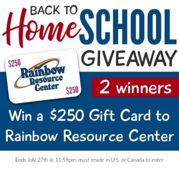 Rainbow Resource Giveaway for homeschoolers
