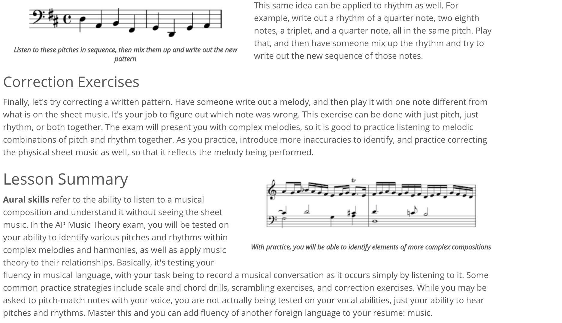 """Lesson text"" Review of AP Music Theory: Exam Prep from Study.com"