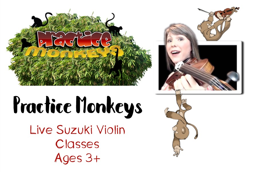 Use Practice Monkeys Violin Instruction for Live At-Home Lessons #homeschoolmusic #music #musiclessons #violinlessons