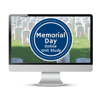 Use this online unit study to learn more about Memorial Day with your kids and do an online project to honor fallen soldiers. #memorialday #onlinecourse #onlineunitstudy #musicinourhomeschool