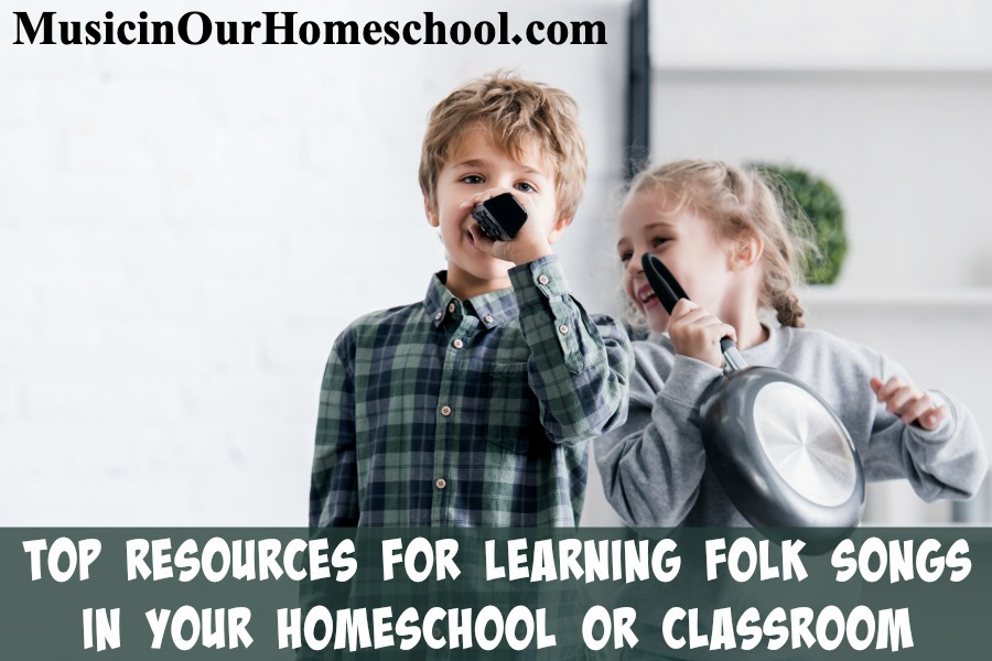 Top Resources for Learning Folk Songs in Your Homeschool or Classroom. Includes books about music, music websites, song lists, CD and other audio ideas