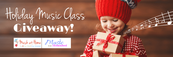 Holiday Music class giveaway of Music in Our Homeschool and Musik at Home courses!