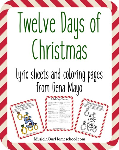 Twelve Days of Christmas printable pack. 24 pages!