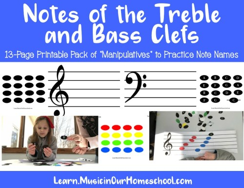 Elementary Music Fun Bundle of Activities: Notes of Treble and Bass Clef Manipulatives