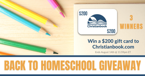 Christian Book giveaway 3 winners $200 gift card