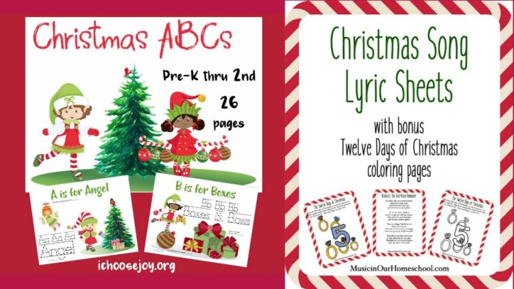 Christmas Printable Set from Music in Our Homeschool