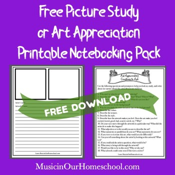 Free Picture Study Printable Pack