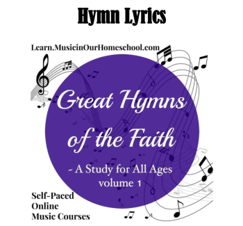 "Hymn lyrics for ""Great Hymns of the Faith"" volume 1"