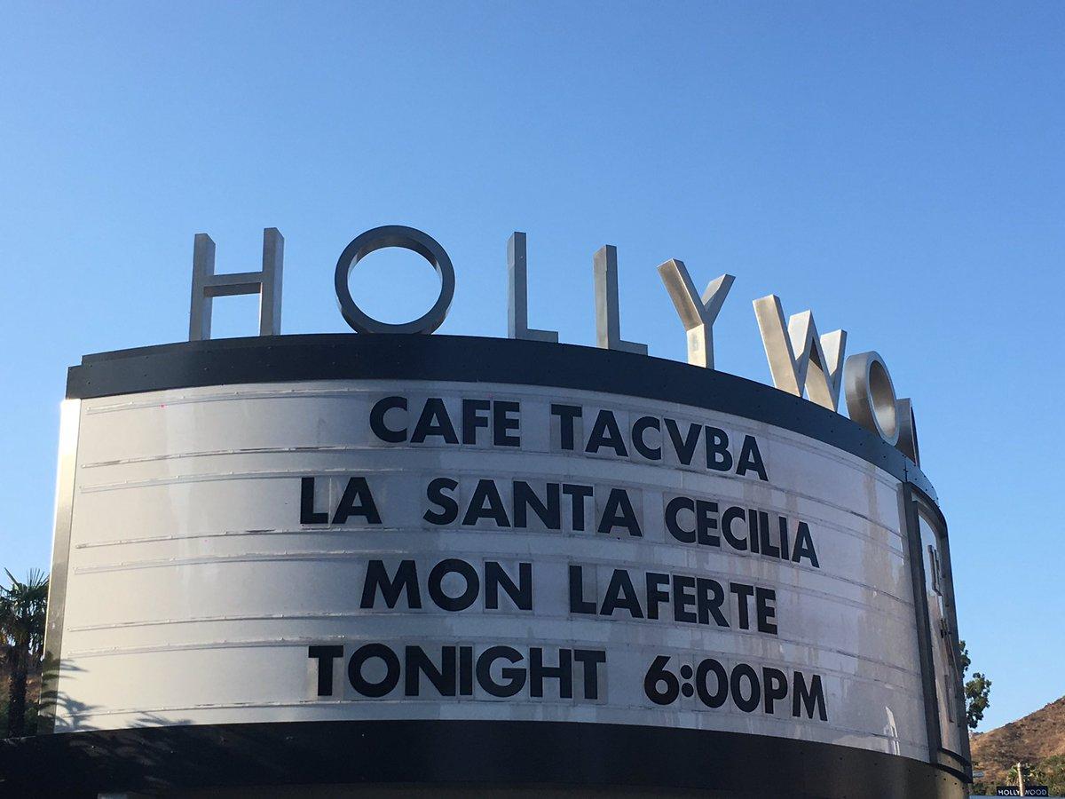 Hollywood bowl marqee
