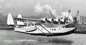 Samoan Clipper landing in Auckland