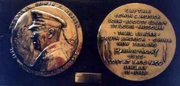 Captain Edwin Musick medallions at Musick Memorial Radio Station