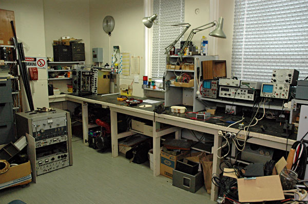 Musick Memorial Radio Station workshop
