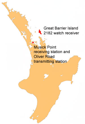 Great Barrier Island 2182 watch receiver