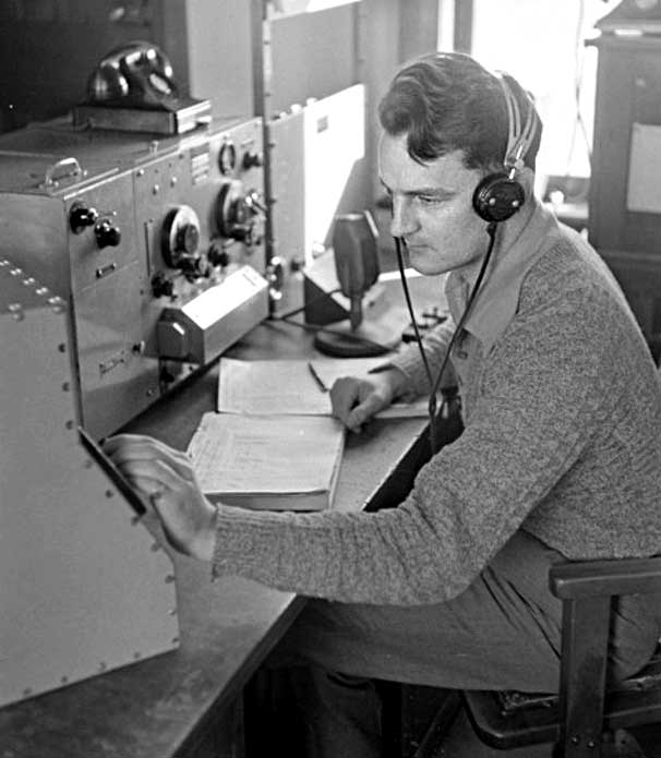 RD Goodman at Musick Point Air Radio Station