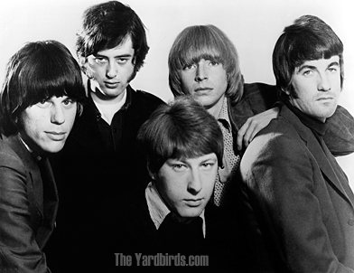The Yardbirds band with jeff beck and Chris Dreja