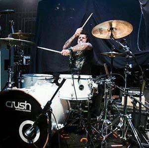 dan johnson drummer red
