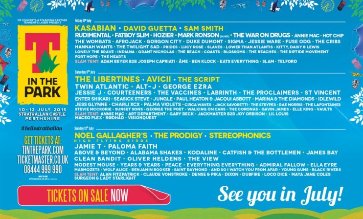 Hotly tipped breakthrough artists join the T in the Park Line up