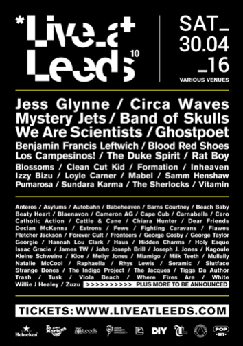 Live At Leeds Announces Over 65 Names For 10th Anniversary Event