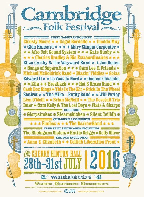 Cambridge Folk Festival 2016 - First names announced