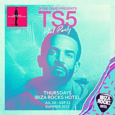 Craig David's TS5 Pool Party at Ibiza Rocks Hotel