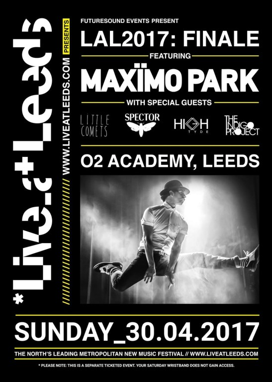Maximo Park to headline the Live At Leeds