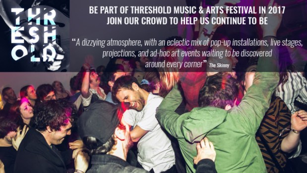 Threshold Festival campaign boosted by public support and Arts Council pledge
