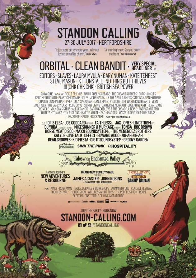 Editors, Kate Tempest, Idris Elba And More Announced For Standon Calling 2017