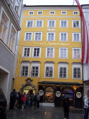 Mozart's House in Salzburg, Austria