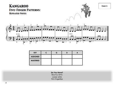 Piano Safari Technique Book