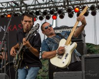 """Christian Kaser Band members Brian Papazian and Tony Schaffer at """"Country Night Lights"""""""