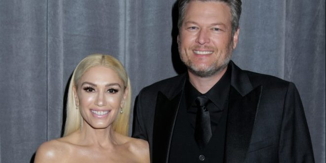 Gwen Stefani and Blake Shelton appear at THE 62ND ANNUAL GRAMMY® AWARDS, broadcast live from the STAPLES Center in Los Angeles, Sunday, January 26th (8:00-11:30 PM, live ET/5:00-8:30 PM, live PT) on the CBS Television Network. Photo: Francis Specker/CBS ©2020 CBS Broadcasting, Inc. All Rights Reserved.
