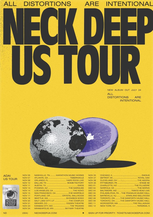 Neck Deep US Tour Dates 2020