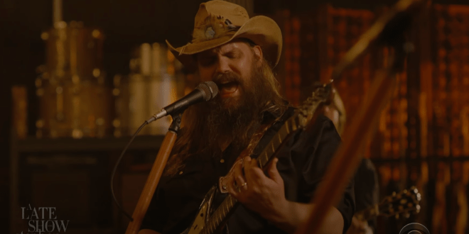 Chris Stapleton; Photo Courtesy of The Late Show With Stephen Colbert