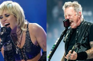 Miley Cyrus; Photo by Gilles Mingasson/ABC, Metallica; Photo By Andrew Wendowski