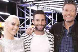 Gwen Stefani, Adam Levine and Blake Shelton; Photo by Trae Patton/NBCU Photo Bank/NBCUniversal