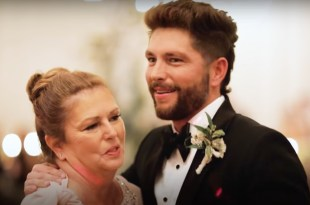 Chris Lane And His Mom; Photo Courtesy of YouTube