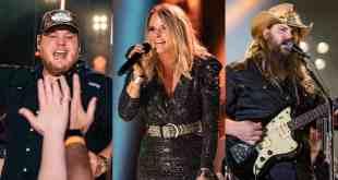 Luke Combs, Miranda Lambert and Chris Stapleton; Photos by Andrew Wendowski