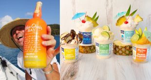 Kenny Chesney and Tipsy Scoop Blue Chair Bay Rum Ice Cream; Photo Courtesy of Instagram & Allister Ann