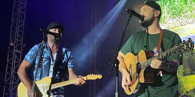 Luke Bryan and Chayce Beckham; Photo Courtesy of @TheEdwardJames on Instagram